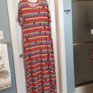 LuLaRoe Maria Long Stripe Dress Sz 2X NWT